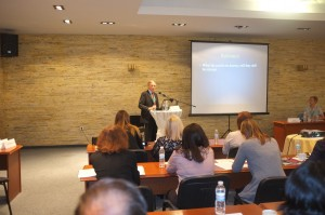 World famous cleft surgeon Brian Sommerlad addresses ECO international research conference in Plovdiv Bulgaria